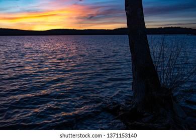 Sunset on Lake Wallenpaupack in Eastern Pennylvania.