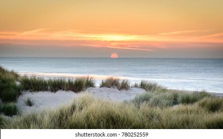 Sunset on Le Touquet Paris Plage Beach