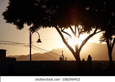 Sunset on the mirador at Plaza Pedro de Anzúrez, Sucre - Bolivia