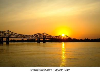 Sunset on the Mississippi River