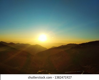 Sunset on the mountain. Sierra Nevada. Spain.
