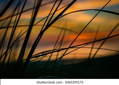 "Sunset on ""Neeltje Jans"" in the Netherlands"