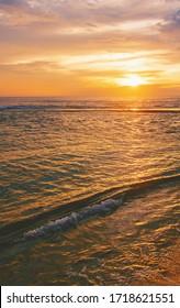 Sunset on the ocean. Sri Lanka. Selective focus. nature.