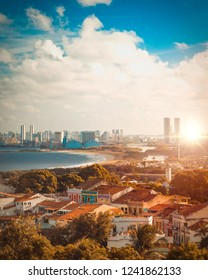 Sunset on Olinda and Recife city - Northeast of Brazil