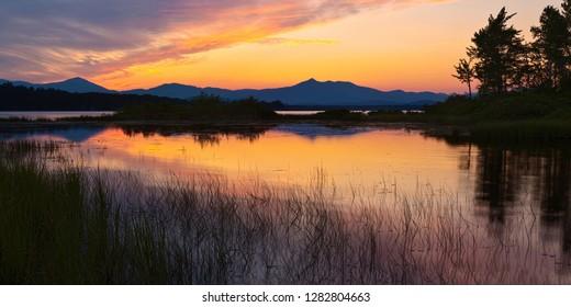 Sunset on Ossipee Lake, New Hampshire USA