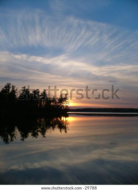 Sunset on Otter Lake.