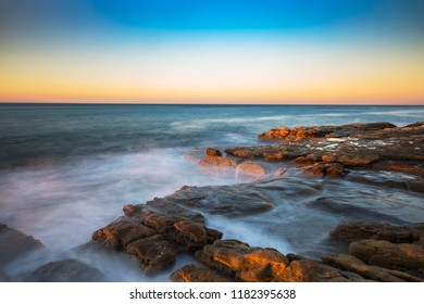 Sunset on point Cartwright, Sunshine Coast, Queensland, Australia