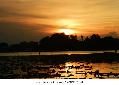 Sunset on Ranu Lake, Grati, Pasuruan.