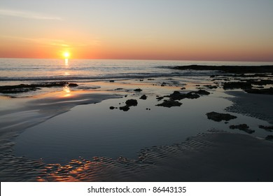Sunset on The Rocks, Cable Beach, Broome, Australia