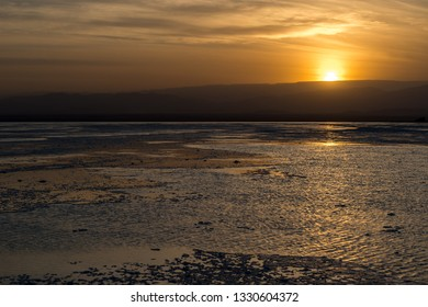 Sunset on the salt pan, Ethiopia, Dallol