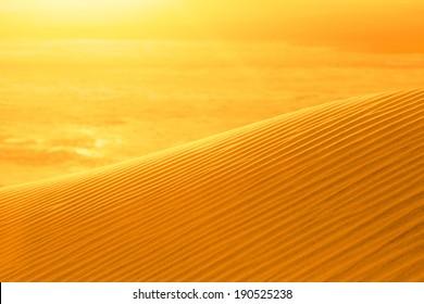 Sunset on sand dune Eureka, Death Valley, California