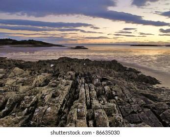Sunset on the Scottish coast
