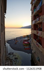 Sunset on the sea - Camogli - Liguria - Italy