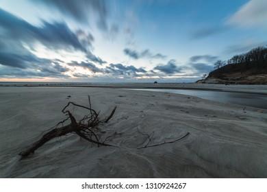 Sunset on the seashore.