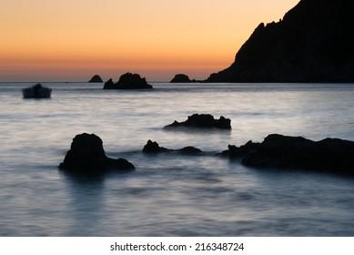Sunset on the seaside, Greece, Corfu