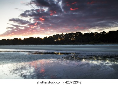 """""""Sunset On South Forest Beach"""" Minutes before sunset in early April on South Forest Beach, Hilton Head Island, SC."""