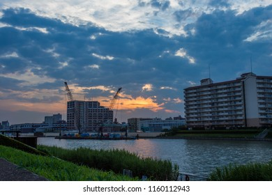 Sunset on the Sumida River, Tokyo