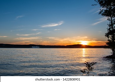 Sunset on Table Rock Lake in Missouri