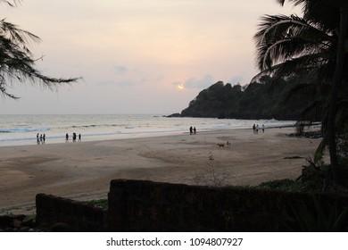 Sunset On Talpona Beach Goa
