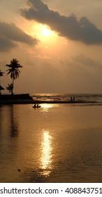 sunset on the Thailand beach