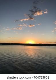 Sunset on the Tocantins River - Porto Nacional - Brazil