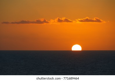 Sunset on the tropical sea - Caribbean sea - Tobago