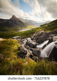 Sunset on Tryfan in the Ogwen Valley, Wales
