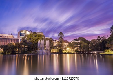 Sunset on the University of Queensland