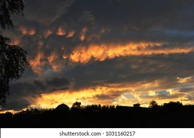 sunset on the verge of twilight