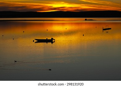 Sunset on the water at St. Andrews, New Brunswick, Canada.
