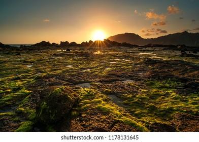 sunset on wediombo beach