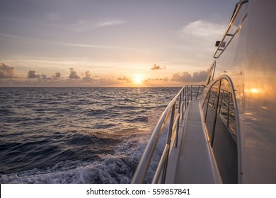 Sunset on a yacht