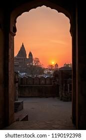Sunset in Orchha. Madhya Pradesh, India