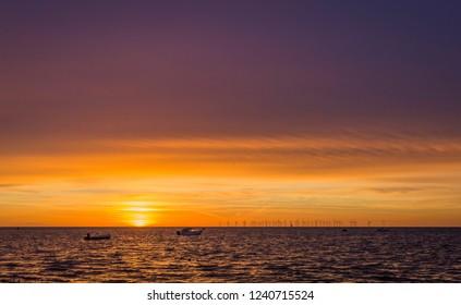 Sunset at Oresund on the Swedish side