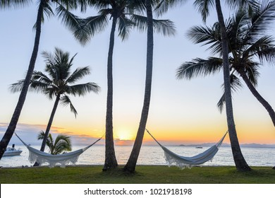 Sunset at Orpheus Island, Great Barrier Reef - View of Hammocks