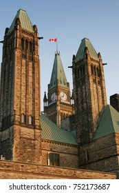 Sunset at Ottawa Parliament, Ontario, Canada.