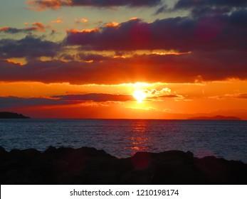 Sunset over the Aegean Sea