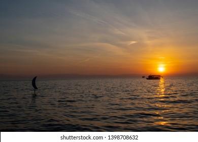Sunset over the Aegean Sea - Thessaloniki Greece