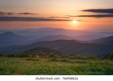 sunset over appalachian trail