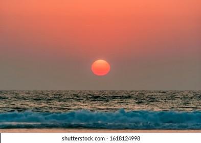 Sunset over Atlantic Ocean - Cap Ferret, Aquitaine, France