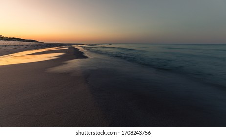 Sunset over Baltic See  seen from Jurata at Hel Peninsula (Półwysep Helski), Poland - Shutterstock ID 1708243756