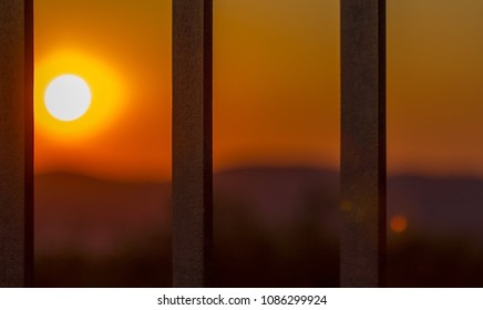 sunset over the bars