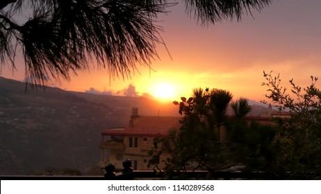 Sunset over Bcharre, Lebanon