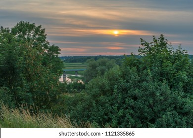 Sunset over Biebrza Valley