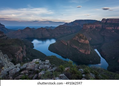 Sunset over the Blyde River Canyon, Swadini and the Three Rondavels in Mpumulanga