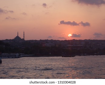 Sunset over the Bosporus, Istanbul