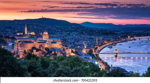 Sunset over Budapest, Hungary