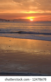 Sunset over a California Beach
