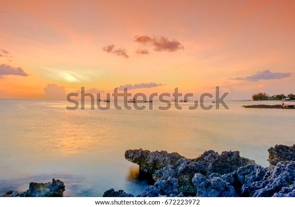 Sunset Over Caribbean Sea By George Stock Photo (Edit Now ... on nassau caribbean, saint-martin caribbean, belize caribbean, cooper island caribbean, caicos caribbean, pennsylvania caribbean, windward islands caribbean, el salvador caribbean, eustatius caribbean, union island caribbean, monaco caribbean, anegada caribbean, virgin islands caribbean, guam caribbean, dominica island caribbean, jamaica caribbean, peter island caribbean, guatemala caribbean, chile caribbean, st barts caribbean,