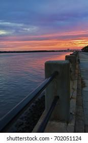 Sunset Over Charleston SC